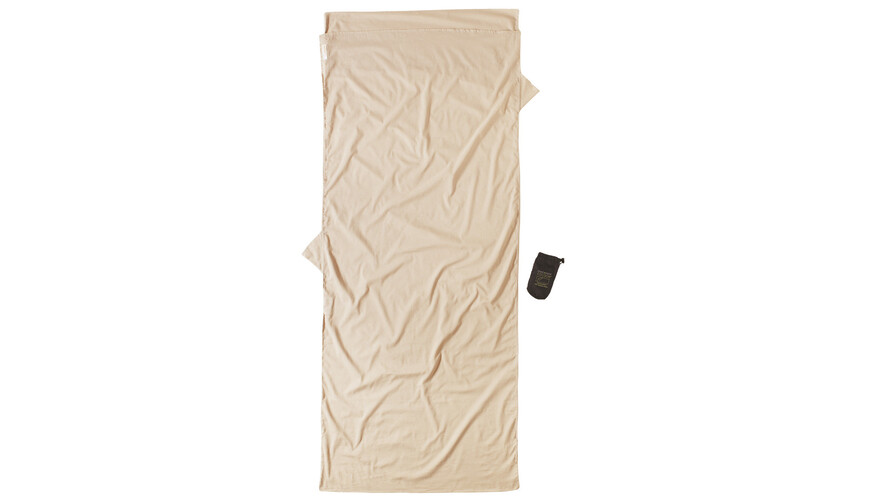 Cocoon Insect Shield TravelSheet egyptian cotton sand